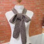 Hand Knitted Narrow Long C..
